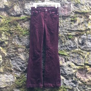 7 for all mankind corduroy flared pants size 27